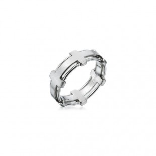 MEN'S 18K WHITE GOLD WEDDING BAND