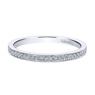 Gabriel & Co. 14k White Gold Diamond Eternity Band