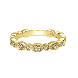 14K YELLOW GOLD DIAMOND STACKABLE FASHION RING