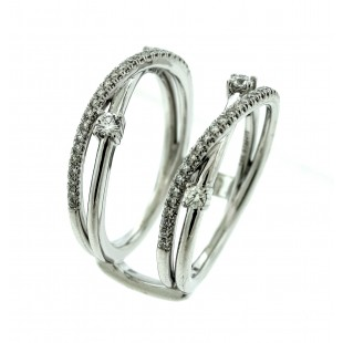 Gabriel & Co. 14k Gold Diamond Ring Guard