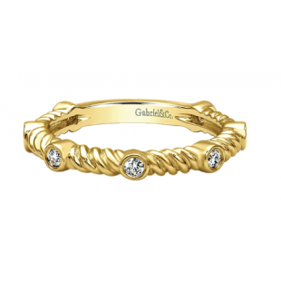 14K YELLOW GOLD TWISTED ROPE BAND