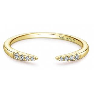 14K YELLOW GOLD OPEN STACKABLE BAND