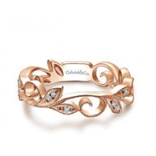 14K ROSE GOLD DIAMOND STACKABLE RING