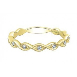 14K YELLWO GOLD DIAMOND STACKABLE RING