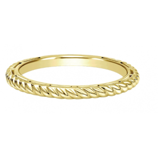 14K YELLOW GOLD STACKABLE ROPE BAND