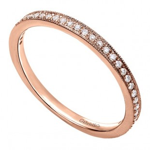 14K ROSE GOLD DIAMOND STACKABLE BAND 0.15CT