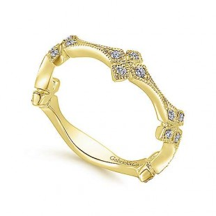 Gabriel & Co. 14k Yellow Gold Diamond Band