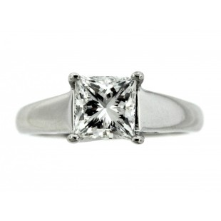 Platinum 1.26ct Princess Cut Diamond Engagement Ring