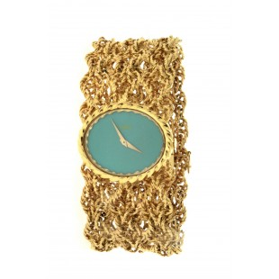 Ladies 18K Yellow Gold  and Turquoise Piaget Watch