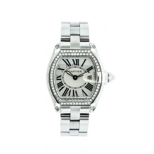 PRE-OWNED CARTIER ROADSTER WITH DIAMOND BEZEL