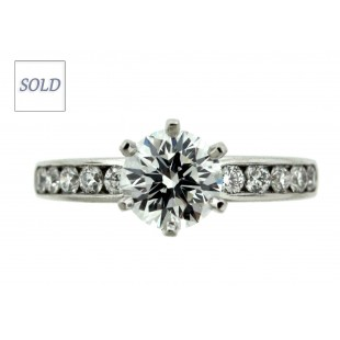 Platinum 1.01ct F\IF Tiffany Diamond Engagement Ring