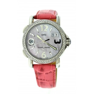 LADIES ULYSSE NARDIN GMT DUAL TIMEZONE WATCH