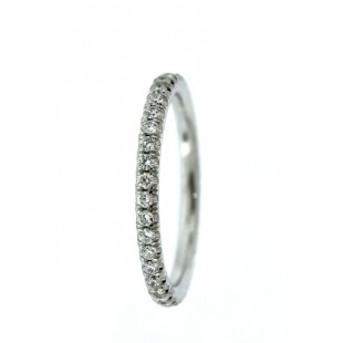 14K WHITE GOLD 0.50 CARAT DIAMOND ETERNITY BAND