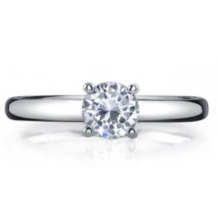 14K White Gold Round Solitaire Setting