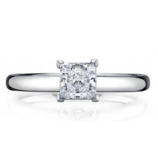 14K White Gold Princess Cut Solitaire Setting