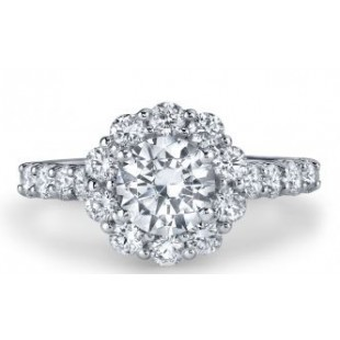 18K White Gold Engagement Setting for a 1.50ct Round Brilliant Diamond