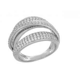 14K WHITE GOLD DIAMOND FASHION RING