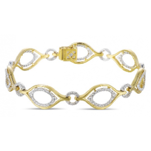 LUVENTE Diamond Bracelet - 14K White and Yellow Gold