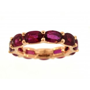 18K ROSE GOLD RUBY U PRONG ETERNITY BAND  ****SOLD****