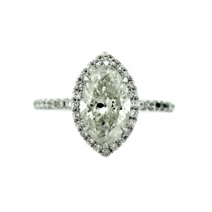 1.90 CARAT MARQUISE CUT DIAMOND ENGAGEMENT RING