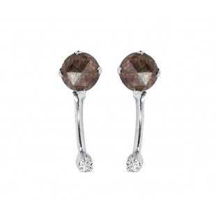 18K White Gold Icy Diamond Stud Earrings