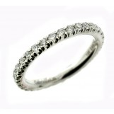 Gabriel and Co 14K White Gold Diamond Eternity Band