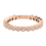 Gabriel and Co. 14k Rose Gold Diamond Stackable Band