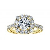 Gabriel & Co. 14k Yellow Gold Round Halo Engagement Ring Setting