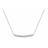 Gabriel and Co 14K WHITE GOLD DIAMOND BAR NECKLACE