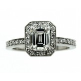 Platinum 1.05 Carat Emerald Cut Diamond Engagement Ring