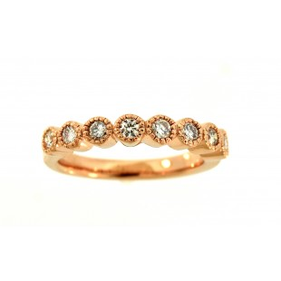 14K ROSE GOLD BEZEL SET DIAMOND BAND
