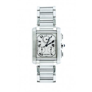 GENTS PRE-OWNED CARTIER TANK FRANCAISE CHRONOGRAPH