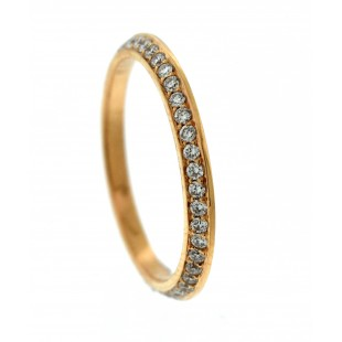 18K ROSE GOLD 0.34CT DIAMOND BOOKEND ETERNITY BAND