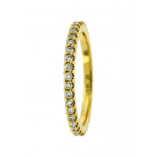 14K YELLOW GOLD 0.33CT DIAMOND ETERNITY BAND