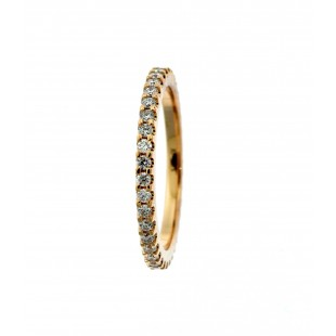 14K ROSE GOLD 0.33CT DIAMOND ETERNITY BAND