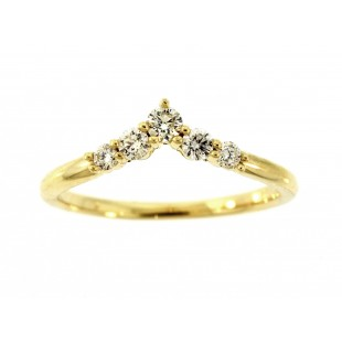 14K YELLOW GOLD DIAMOND NESTING ANNIVERSARY BAND