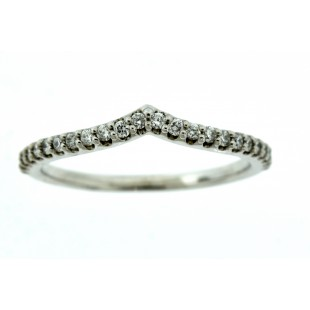 14K WHITE GOLD DIAMOND NESTING ANNIVERSARY BAND