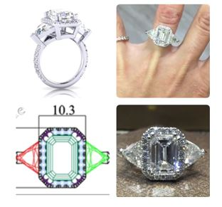 From CAD Drawing to the finished Diamond Ring.